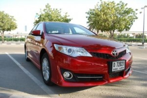 Camry 2012 front grille and headlamps