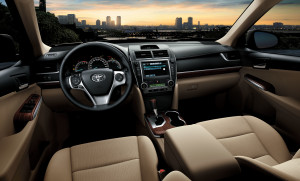 Camry 2012 comfortable cabin