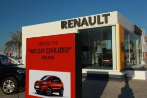 Renault Pop up offers test drive of Koleos with an iPad on purchase