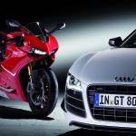 Die AUDI AG uebernimmt den traditionsreichen italienischen Hersteller von Sportmotorraedern Ducati Motor Holding S.p.A. mit Firmensitz in Bologna. Die Uebernahme soll schnellstmoeglich nach der kartellrechtlichen Freigabe erfolgen./Im Bild: Ducati 1199 Pa