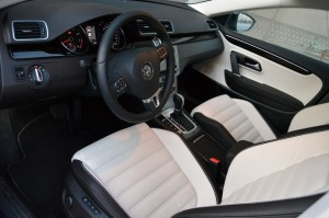 Volkswagen CC interiors are classy in leather and wood