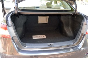 Nissan Sentra class-leading boot storage