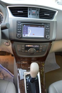 Nissan Sentra touch screen controls are simple