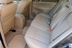Nissan Sentra rear vents and range of options
