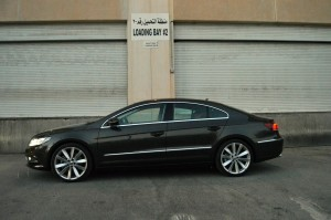 VW CC side view and length