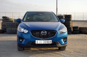 The Mazda CX5 has an abrupt and unfront grille design