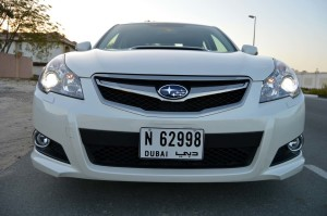 Subaru Legacy GT has a sporty grille
