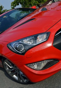 Hyundai Coupe headlights with automatic levelling and washers