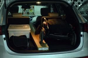 Hyundai Santa Fe has 485 L of boot space
