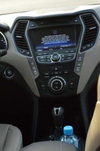 Hyundai Santa Fe navigation console