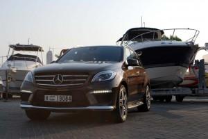 ML 63 luxury seeks comfort in its wide tyres