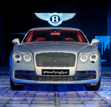 Bentley Flying Spur launched with the familiar W12 engine.