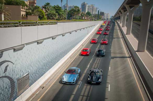 The sidelines are event filled and exciting with the likes of the first ever Dubai Car Parade.