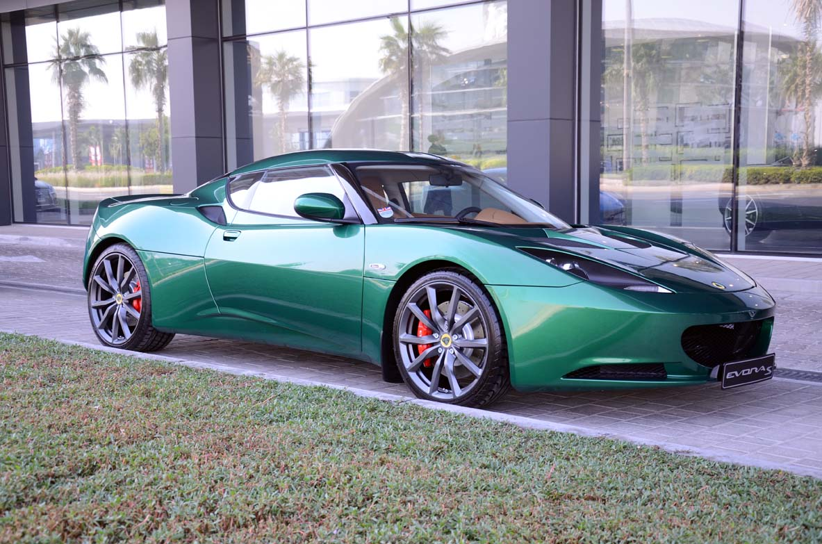 http://drivemeonline.com/wp-content/uploads/2013/12/Evora-S-racing-green.jpg