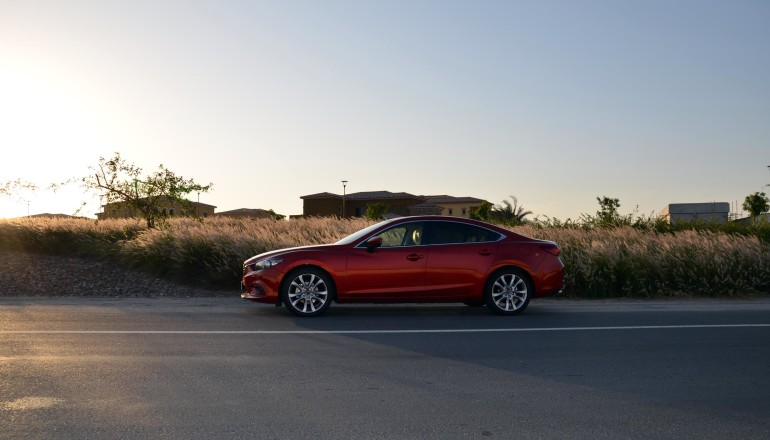Mazda 6 road review UAE
