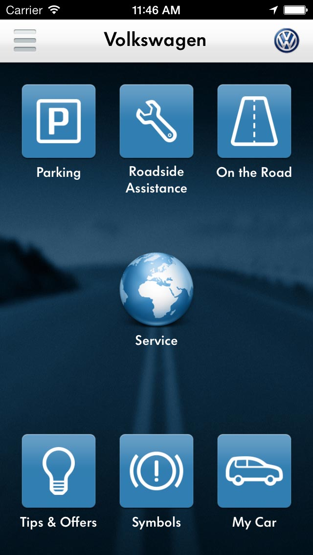 new volkswagen service app helps with accident report and. Black Bedroom Furniture Sets. Home Design Ideas