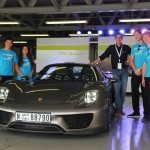 The Safire Team picks Porsche brains