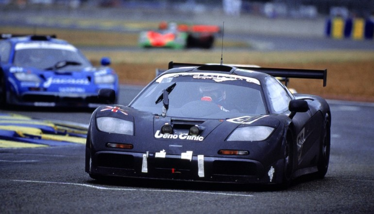 Le Mans, France. 17th - 18th June 1995. McLaren F1 GTR in action.