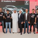 The six finalists with Samir Cherfan, managing director, Nissan Middle East and racing legend Dr. Mohammed bin Sulaiyem.