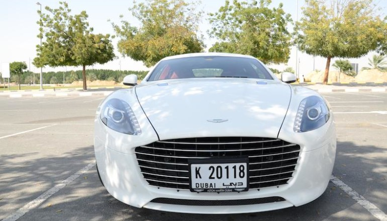 Aston Martin Rapide S parking front