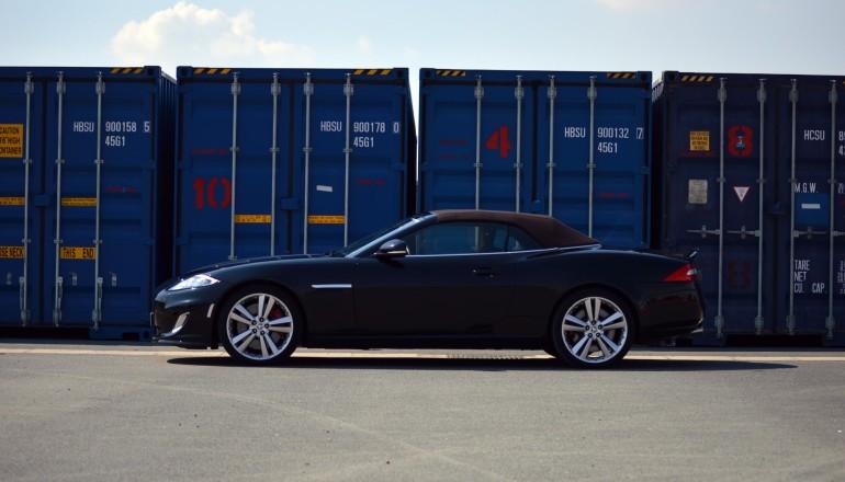 Jaguar XKR profile blue
