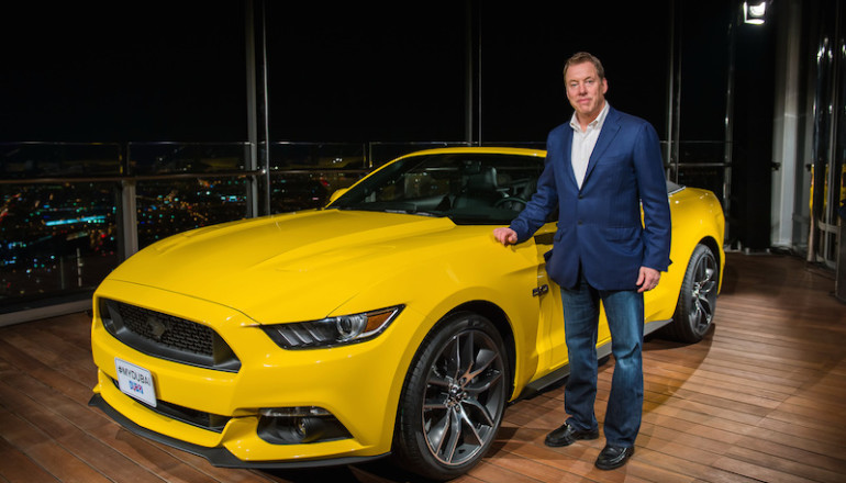 Bill Ford Launches Mustang in Middle East