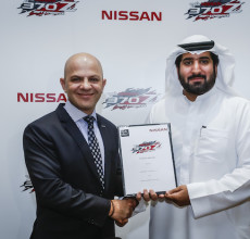 Samir Chefan and Mohammad Al Falasi at the announcement of the drifting partnership