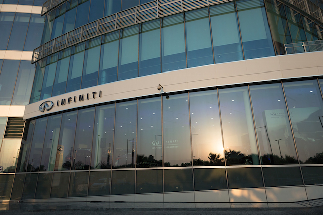 All new Infiniti IREDI showroom in Landmark Tower in Abu Dhabi