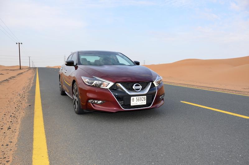 Nissan Maxima 2016 road