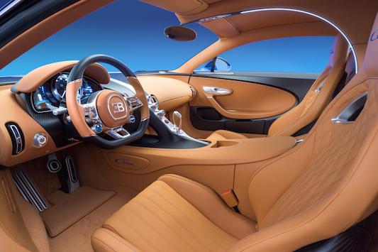Bugatti Chiron interiors