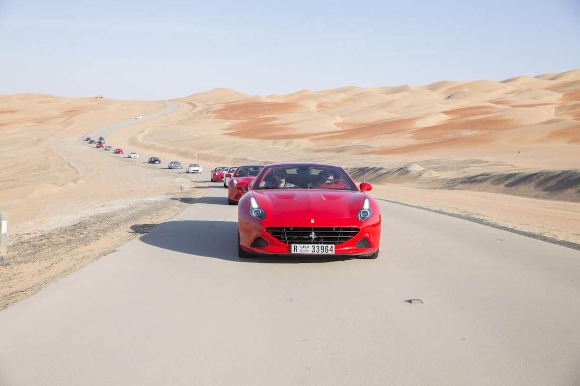 Ferrari Deserto Rosso convoy