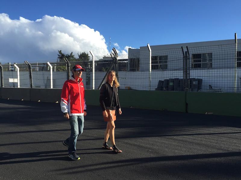 Bruno Senna and Nicki Shields( Mexico