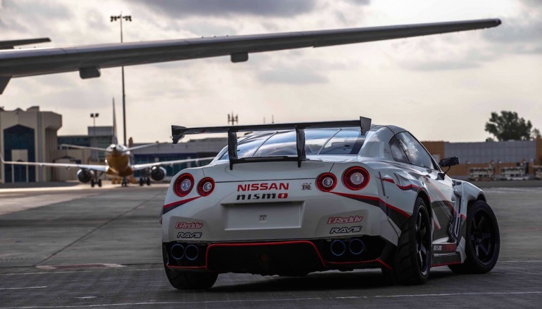 Nissan GTR Fastest Drift in Fujairah Airport