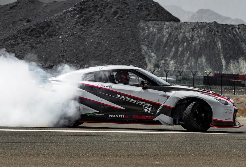 Nissan GTR Fastest Drift Fujairah Airport