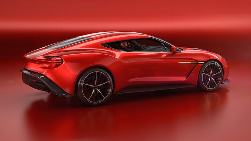 Aston Martin Vanquish Zagato Concept rear profile