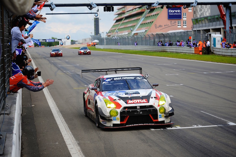 Nissan GT Academy Team at the Nürburgring 24 Hours on the 30th of May.
