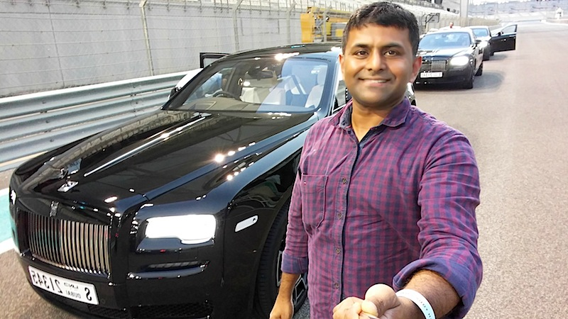 Sudeep Koshy Rolls Royce Black Badge