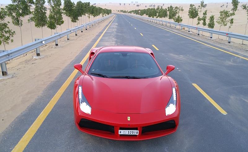 Ferrari 488 GTB in Dubai road test