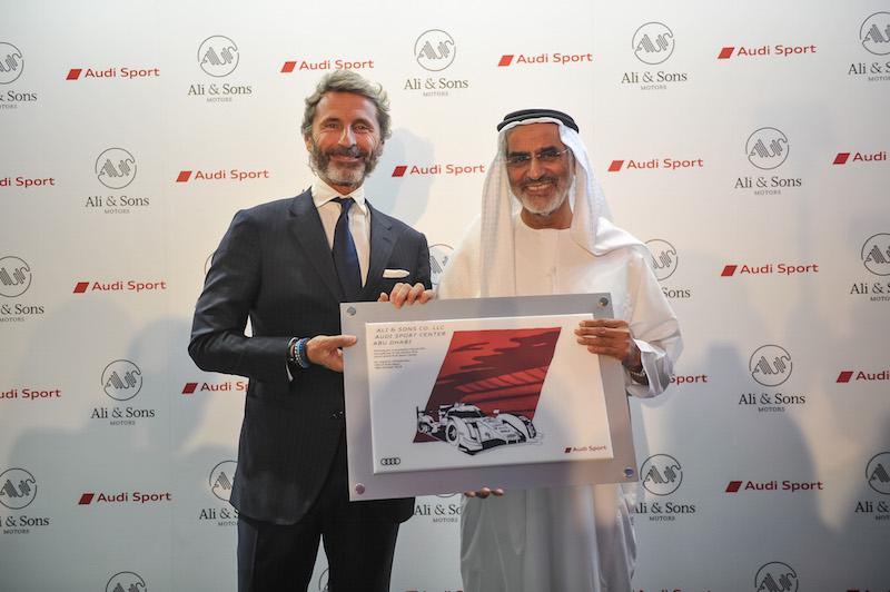 Stephan Winkelmann and H.E. Ali Bin Khalfan Al Mutawa Al Dhaheri