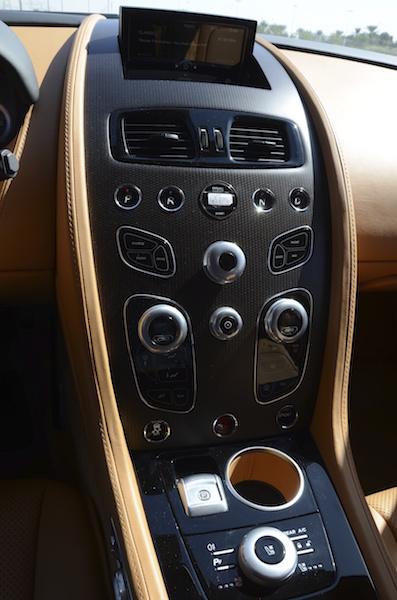Aston Martin Rapide S 2017 controls