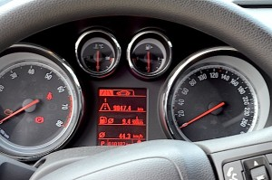 Opel Astra instrument panel