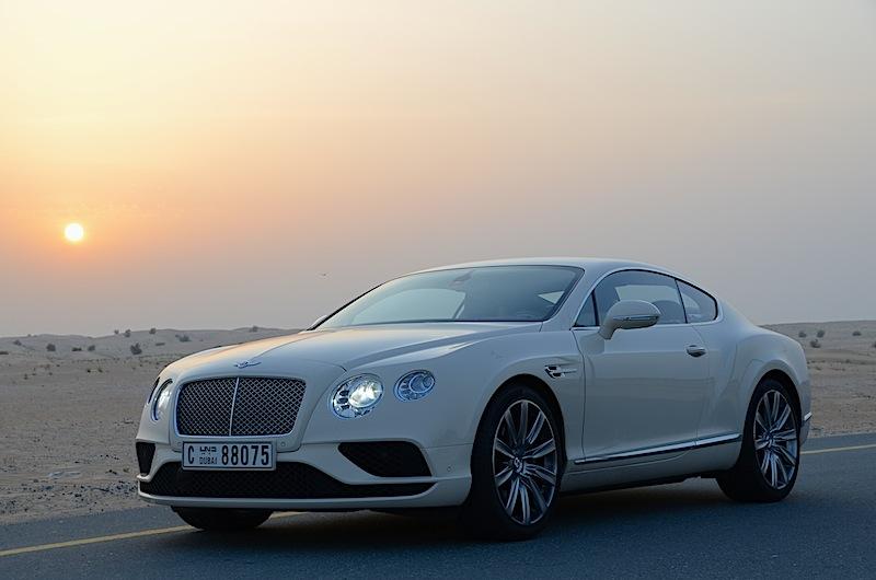 Bentley Continental GT 2016 V8 highway