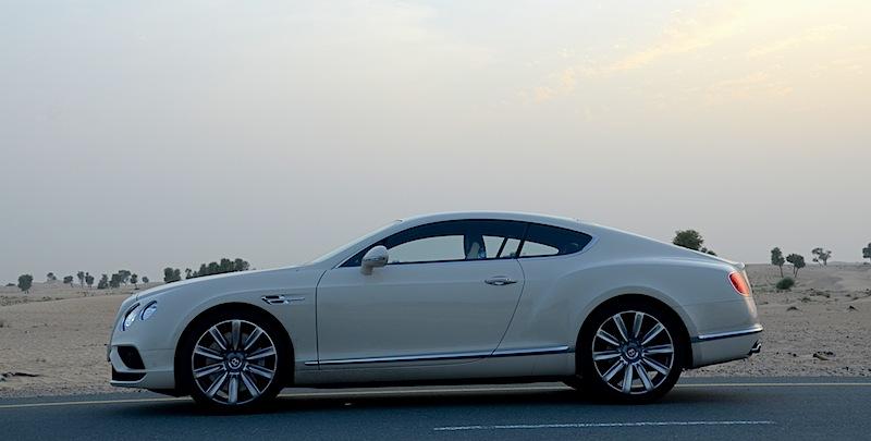 Bentley Continental GT 2016 V8 profile