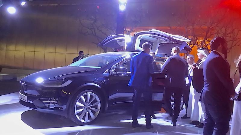 Tesla Model X launch wings