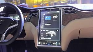 Tesla tablet screen