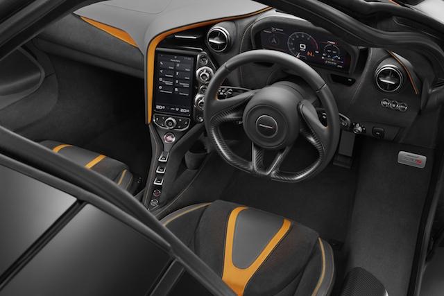McLaren 720S cabin