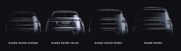 Range Rover Velar Tease Image Family Line Drawing