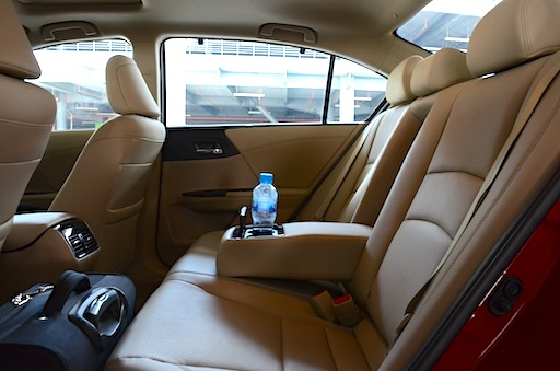 Honda Accord 3.5L rear seat