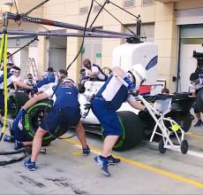 Williams Racing pit stop