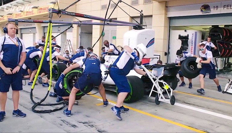 Williams Racing pit stop